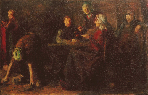 Krehbiel Painting of Dutch Interior