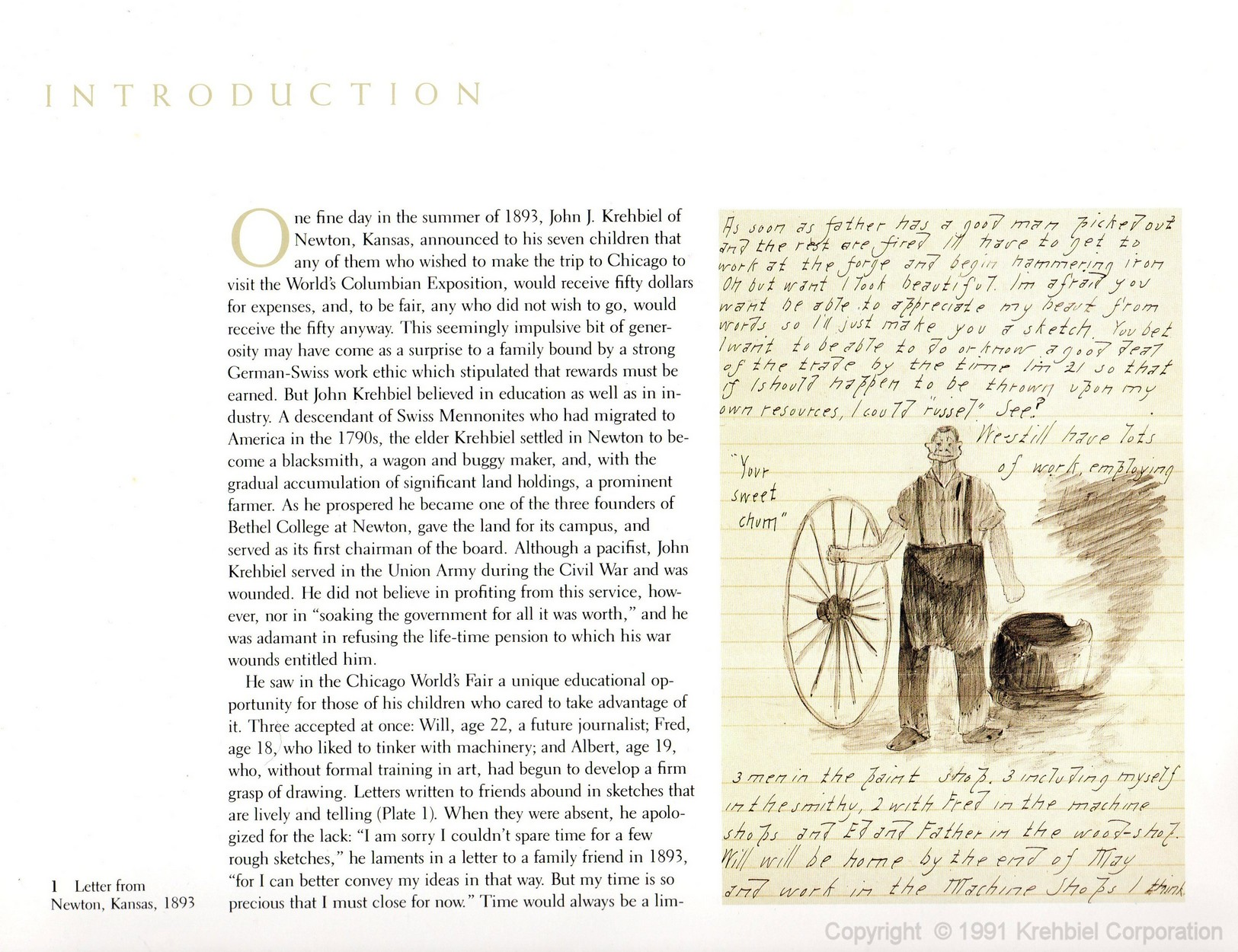 Page 1 of Krehbiel - Life and Works of an American Artist
