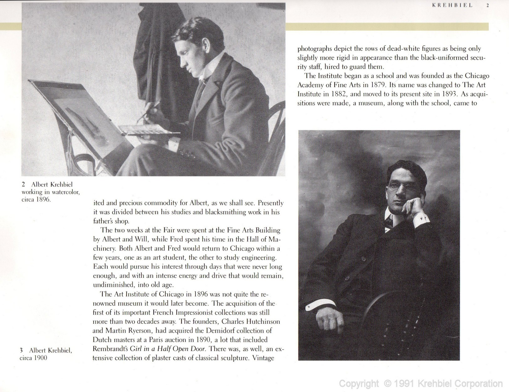 Page 2 of Krehbiel - Life and Works of an American Artist