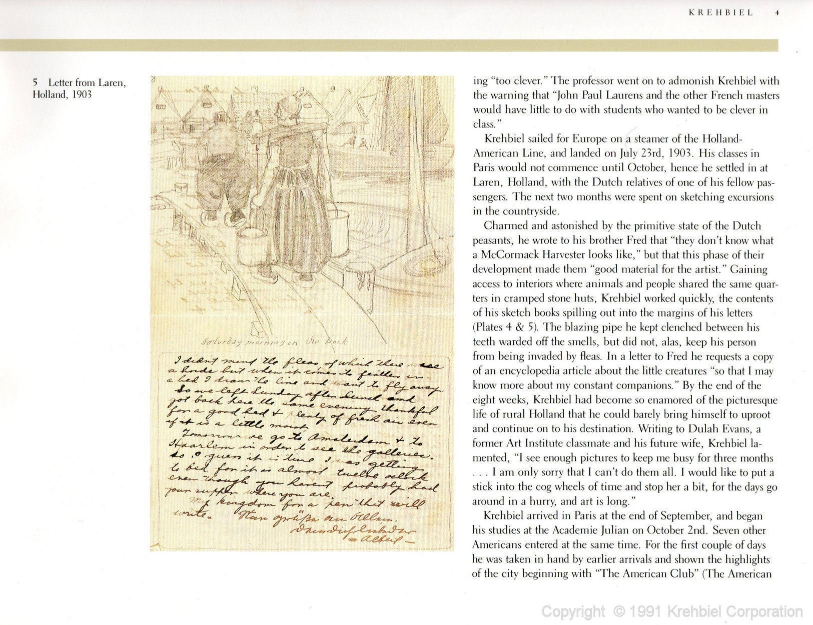 Page 4 of Krehbiel - Life and Works of an American Artist