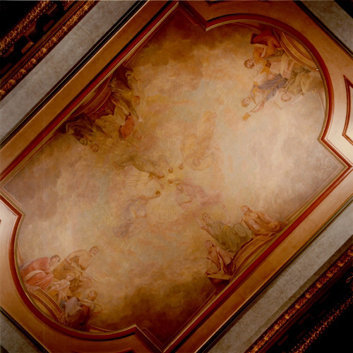 Krehbiel Ceiling Mural in the Illinois Appellate Court